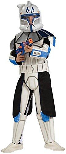 Rubies Star Wars Clone Wars Child's Clone Trooper Deluxe Captain Rex Costume, Medium