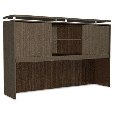 Alera Sedina Series Hutch with Sliding Doors, 66W X 15D X 42 1/2H, Espresso