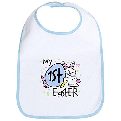 (CafePress - Bunny Chickie 1st Easter Bib - Cute Cloth Baby Bib, Toddler Bib)