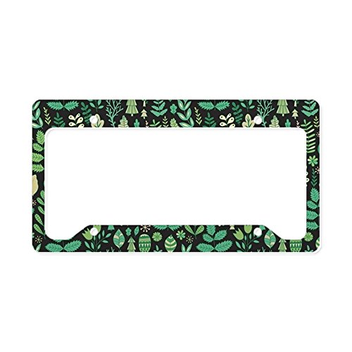 - CafePress Forest Pattern Aluminum License Plate Frame, License Tag Holder