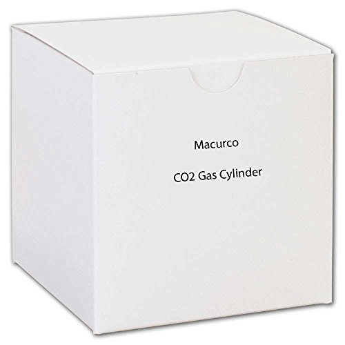 Macurco CO2 Gas Cylinder Carbon Dioxide CO2 Test Gas Canister, 17L 2000 ppm -