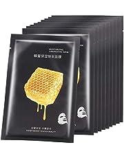 10 stuks gezichtsmasker, hydraterend gezichtsmasker Stoffen maskers Honing voedzaam concentraat Gezichtsmaskers Hydraterende hydraterende ultradunne schoonheidstool