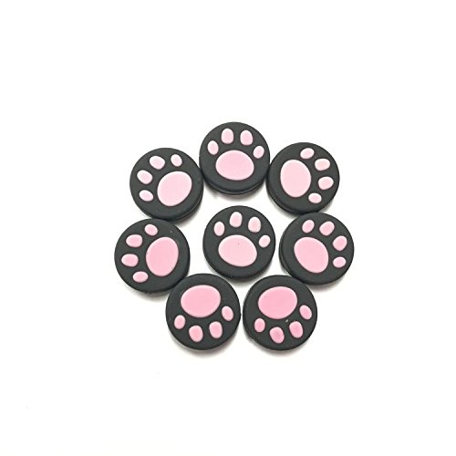 Distinct [Set of 4] Cat Paw Silicone Analog Stick Joystick Controller Performance Thumb Grips Stick Cap Cover for Nintendo Switch NS Controller