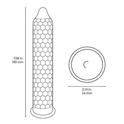 LELO HEX Original, Luxury Condoms with Unique Hexagonal Structure, Thin Yet Strong Latex Condom, Lubricated (36 pack)