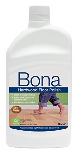 Gloss Hardwood Floors - Bona Hardwood Floor Polish - Low Gloss, New Value Pack Size 64 oz.