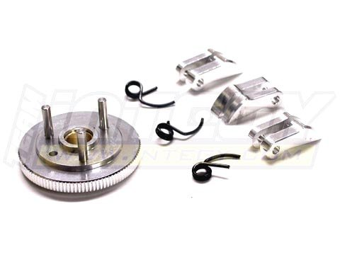Integy RC Model Hop-ups T7041SILVER 7075 Type 3-Piece Clutch+Flywheel for HPI Savage-X, 21 & 25