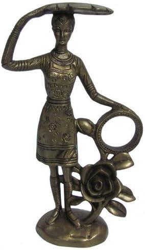 Decorativeビクトリア朝スタイルLady真鍮Figurine Statueメタルアートインドmf31