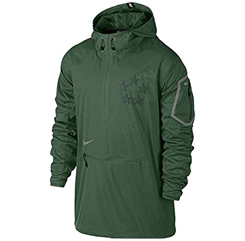 NIKE FIELD GENERAL FLY RUSH HOODED MENS FOOTBALL JACKET (X-Large, Gorge Green/Pro Green/Cool)