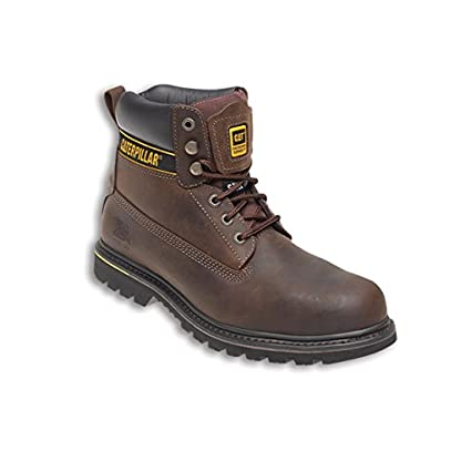 Caterpillar CAT Holton SB Brown Steel Toe Cap Safety Boots Work Boots 1