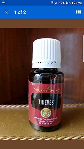 (Young Living Thieves 15ml Essential Aroma Therapy Oil)