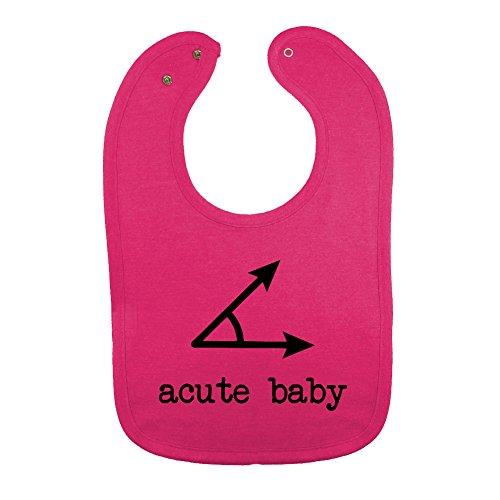 Vintage Baby Bib (So Relative! Unisex Baby A Cute Baby (Acute Angle) Cotton Baby Bib (Vintage Pink))