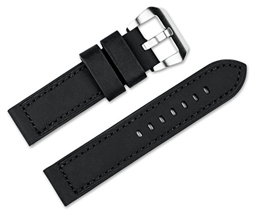 20mm-replacement-leather-watch-band-crazy-horse-saddle-leather-black-watch-strap