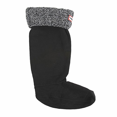 Hunter 6 Stitch Cable Boot Sock - Black/Grey