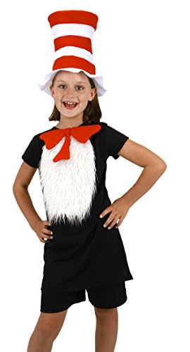 Girls Costume In Cat Hat The (Dr. Seuss Cat in the Hat Kids Insta-Tux Kit by)
