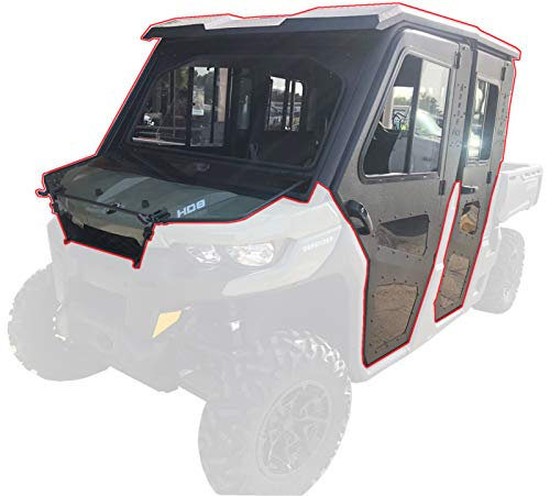 Steel Complete Cab Enclosure System with Doors Can-Am Max 2016 17 18 19 Defender
