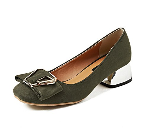 Mmsg00226 green femme Compensées 1TO9 Sandales CPnAYYq