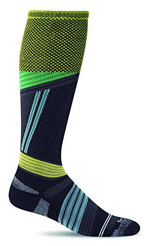 - Sockwell Men's Alpine Cushioned Ski Graduated Compression Socks, Black, Large/X-Large