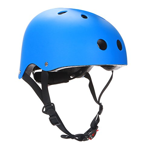 Dtown Blue Skateboard Helmet CPSC Certified Impact Resistance Ventilation for Multi-Sports Cycling Skateboarding Scooter Roller Skate Inline Skating Rollerblading Longboard ()