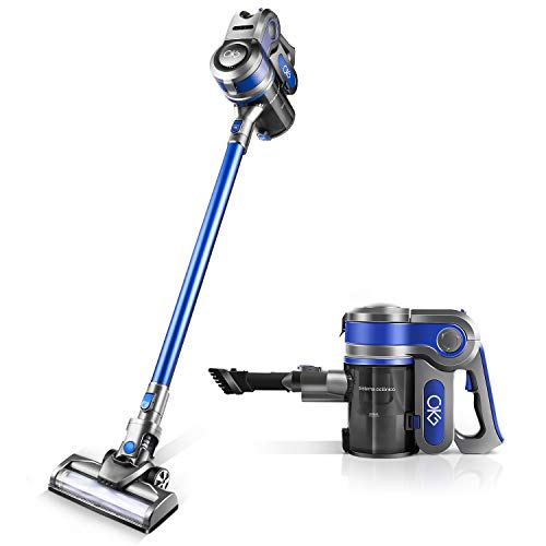 Cordless Vacuum,OKG Stick Vacuum Cleaner, 10Kpa Powerful Suction 4 in 1 Stick Handheld Vacuum Cleaner for Home Hard Floor Carpet Car Pet with Rechargeable Battery