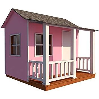 Amazon Com Kids Playhouse Plans Diy Backyard Storage Shed Micro