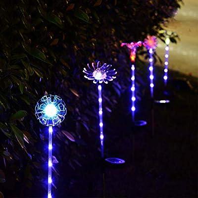 Sukisuki - Lámpara de Techo con 5 Luces LED para jardín, diseño de Copo de Nieve: Amazon.es: Jardín