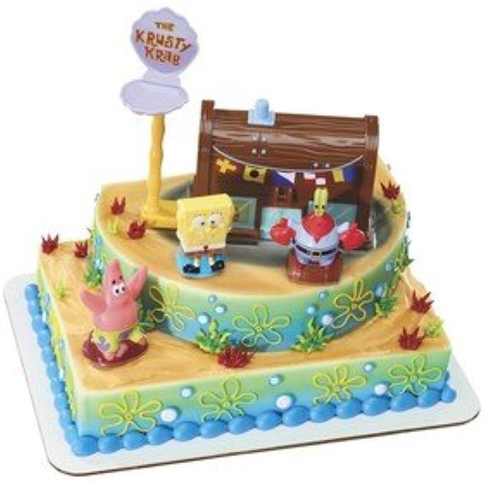 Details about SpongeBob Squarepants - Krusty Krab Signature DecoSet Cake  Decoration Toys &