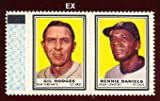 #2: 1962 Topps Stamp Panels (Baseball) Card# 91 gil hodges/bennie daniels w/tab of the New York Mets Ex Condition
