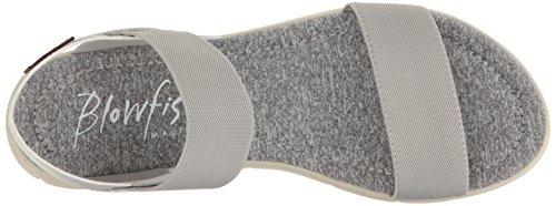 Blowfish Kvinna Brit Flat Sandal Ljusgrå Mjuk Färgbar Pu / Super Gore