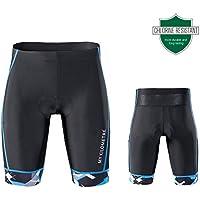 "My Kilometre KILO Triathlon Mens Shorts 9"" Black with Two Leg Pockets,Chamois for Long-distance Tri Race"