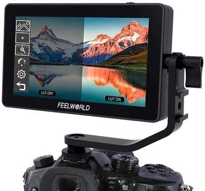 FEELWORLD F6 Plus 5.5 3D LUT Touch Screen DSLR Camera Field Monitor IPS FHD1920x1080 Support 4K HDMI Input Output with Tilt Arm