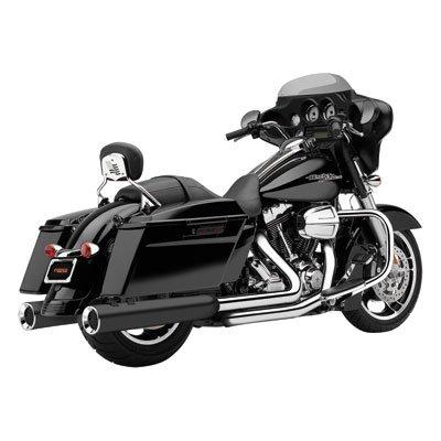 Cobra 06-16 Harley FLHX2 Powr-Flo Slip-On Exhaust (Raven Black / 4.5