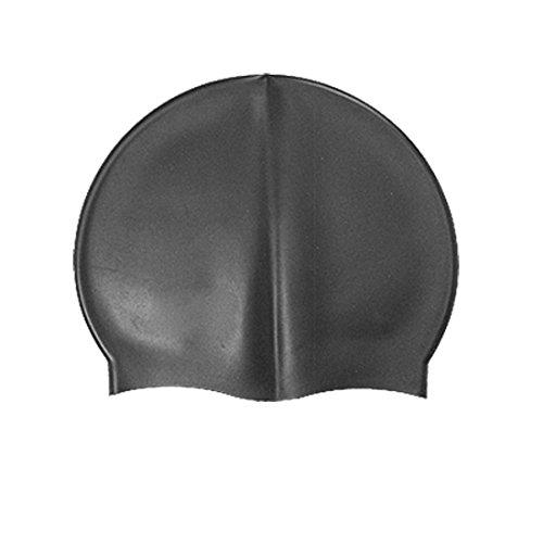 Black Stretch silicona nadar natación sombrero New