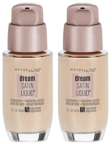 Maybelline Dream Satin Liquid Foundation (Dream Liquid Mousse Foundation), Natural Beige, 2 ()