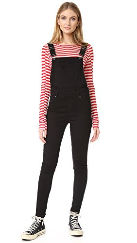 Cheap-Monday-Womens-Dungaree-Spray-Black-Overalls