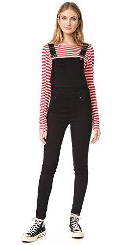 cheap-monday-womens-dungaree-spray-black-overalls-black-medium