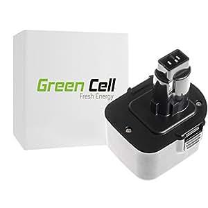 Green Cell® Batería de Herramienta Eléctrica para DeWalt DW053K (Ni-MH 3Ah 12V)