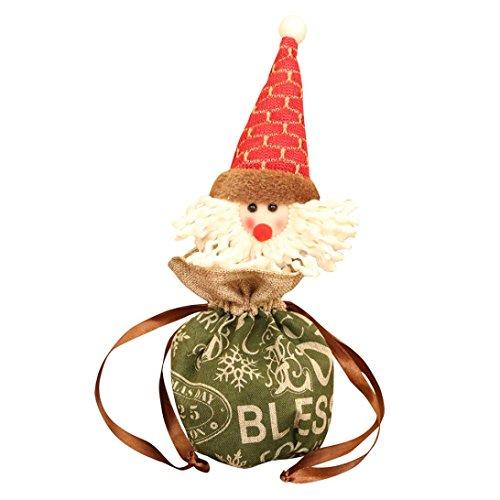 Iusun Christmas Apple Bag Santa Claus Snowman Elk Christmas Candy Gift Packaging Apple Box Decoration (B)