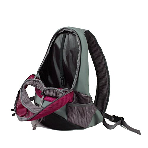 Quno Pet Carrier Backpack Adjustable Soft-sided Portable Easy-Fit Outdoor Travel Hiking for Dog Cat Small Animals Handbag Pack of 1 Rose S by Quno (Image #3)