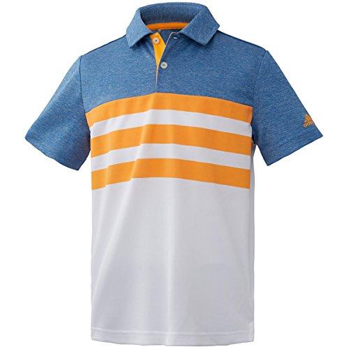 アディダス Adidas 半袖シャツ?ポロシャツ 3ストライプ 半袖ポロシャツ ジュニア リアルゴールド 130