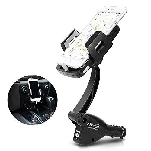 Bestfy 3-in-1 Car Phone Mount Phone Holder Cradle for Car wi