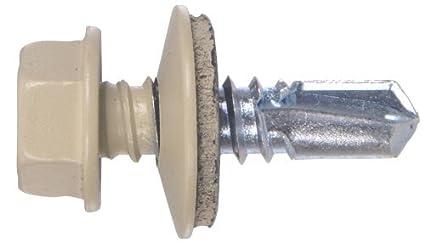 The Hillman Group 48055 14 X 7//8-Inch Beige Painted Head Lap Stitch Screw 1-Pound