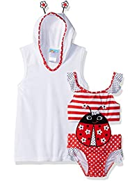 Baby Buns Toddler Girls' Little Lady Terry Cover-up Swim Set