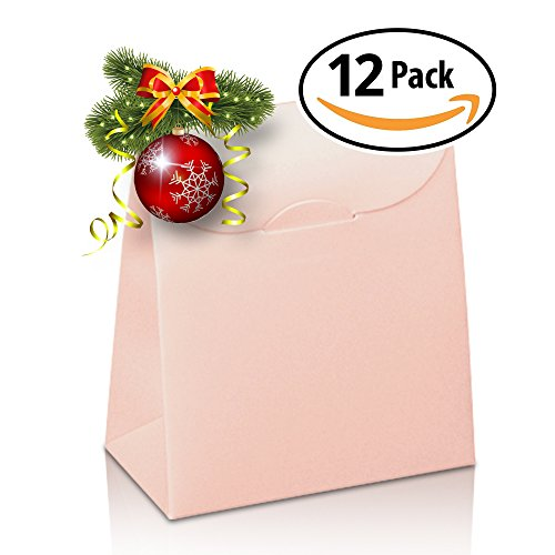 JGB Online Retail Decorative Gift Favor Boxes with Lid, Set of 12, Best Designer Quality for Birthday, Wedding, Holidays, by Giovanni Grazielli, Light Pink, (5. 3 x 3. 5 x 1. 8 in)