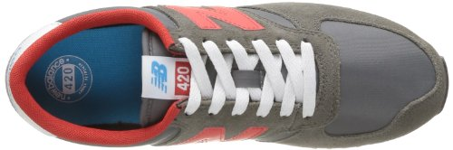 New Balance U420 D 14E, Baskets mode mixte adulte Gris (Grey/Red (060))