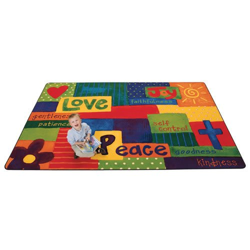 Carpets for Kids 90115 Spiritual Fruit Painted Kid$ Value Plus Rug-6' x 9' 6' x 9' , 5'5'' x 7'8'', Multicolored by Carpets for Kids