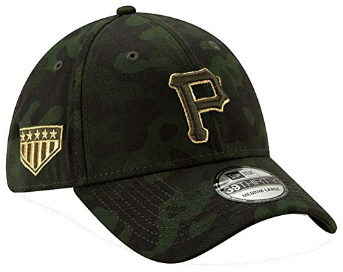 New Era 2019 MLB Pittsburgh Pirates Hat Cap Armed Forces Day 39Thirty (L/XL) Green/Gold ()