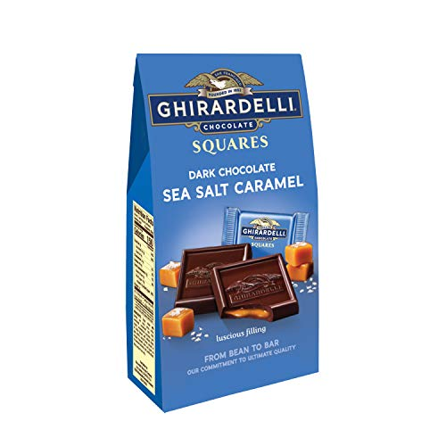 Ghirardelli Dark and Caramel Sea Salt, Chocolate Squares, 5.32 oz., (Pack of 6) - Ghirardelli Chocolate Dark Chocolate