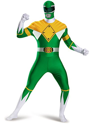 Disguise Men's Green Ranger Bodysuit Costume, Green, -