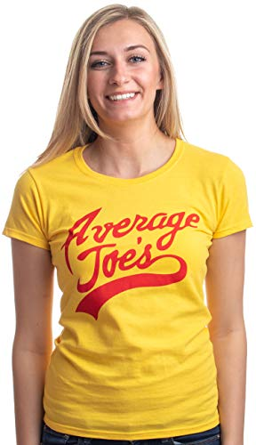 (Average Joes | Funny Dodgeball Team Sports Jersey Ladies' T-shirt-Yellow, M)