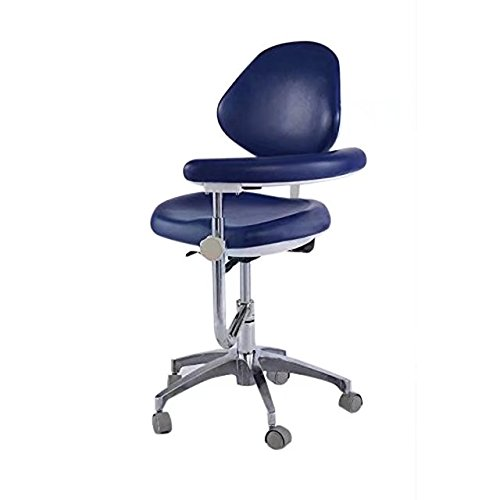 BoNew Dental Stool Assistant Stool Dental Assistant Chair with Armrest PU Leather Height Adjustable by BoNew (Image #2)